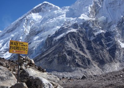 And the way to Base Camp is
