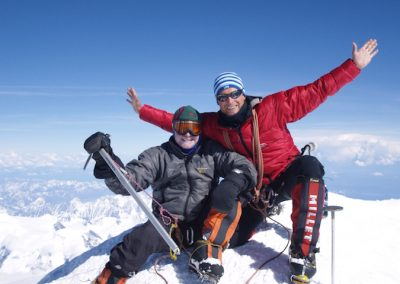 Rob and Kev on the summit of Denali