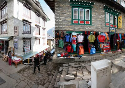 Namche Bazaar Crossroads Courtesy Malcolm Dodds