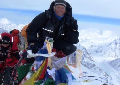 Rob on the summit Everest
