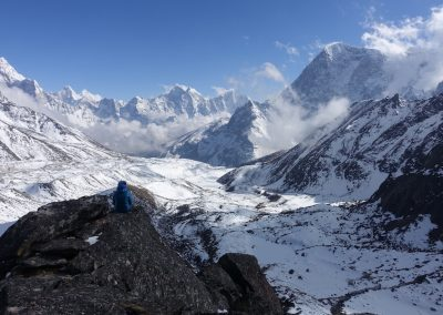 Acclimatisation trek above Lobuche - a better sleep now more likely