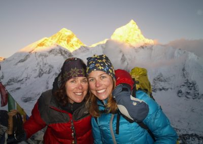 Mum and daughter Kala Patthar summit
