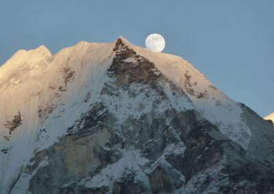 Moonrise on Island Peak