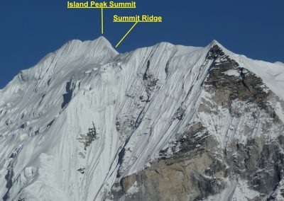 Summit ridge on Island Peak