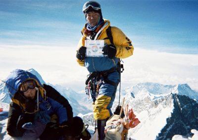 Ang Nuru on the summit of Everest