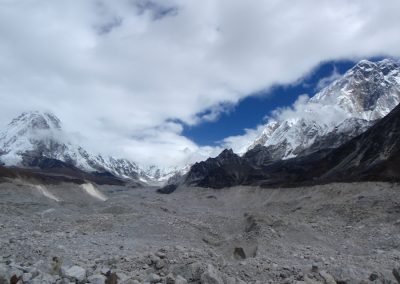 Crossing the Khumbu Glacier enroute to the Kongma La