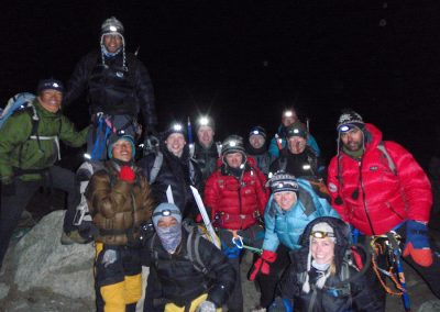Summit night just before leaving Base Camp