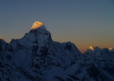 Morning Alpine glow on Ama Dablam