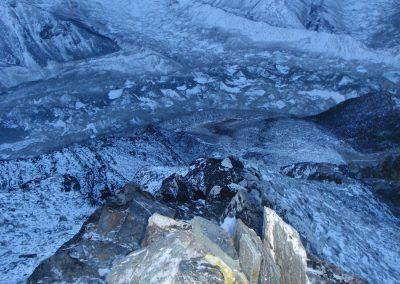 Imje Tse Island Peak glacier