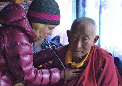 Annual health check for Lama Geshe!