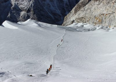 Glacial Crossing, Island Peak