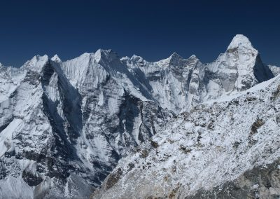 Ama Dablam right and the surrounding vista