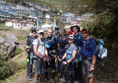 Arrival at Namche Bazaar