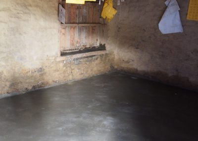 Cemented floors - one of the best ways for improving a child's education. By preventing parasitic transmission from dirt floors and thus helping to prevent malnutrition, educational attainment sharply.
