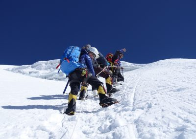 The climb  - Soon to arrive on the summit of Lobuche East