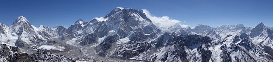 The climb  - Panorama from the summit of Lobuche East