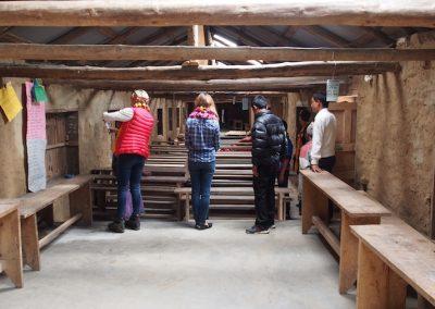A newly renovated classroom at Chheskam school
