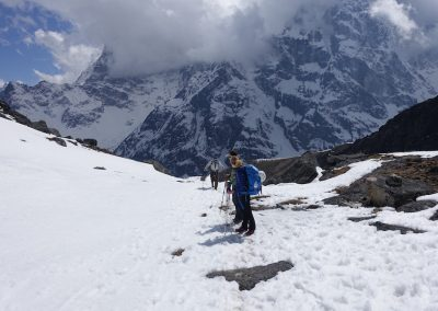 Approach to Lobuche East Base Camp