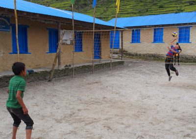 Some newly renovated classrooms and a touch of volleyball