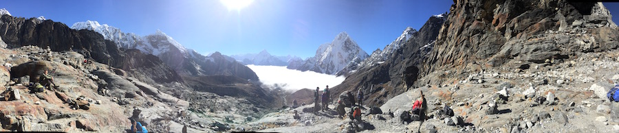 Panoramic view back towards Dzonghla from near the Cho-La pass