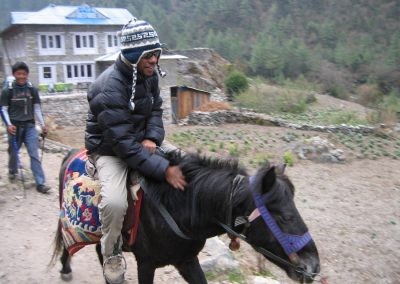 The Khumbu version of a taxi-ride home